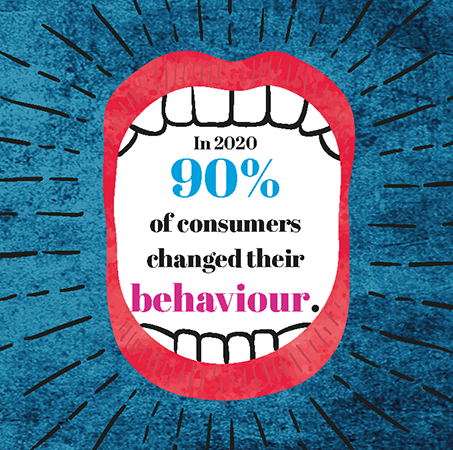 In 2020, 90% of consumers changed their behaviour